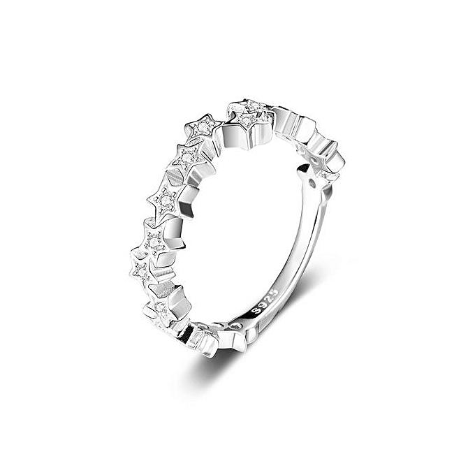 Buy Generic Jure 925 Sterling Silver Ring Zirconia Wedding