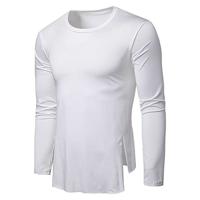 f54f88c2d Tee Shirt Slim Fit O-Neck Long Sleeve Muscle Casual T