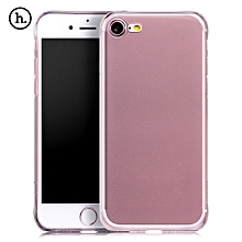 Frosted Soft Touch Flexible TPU Back Case For IPhone 7 - Black