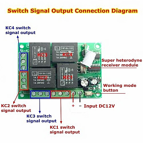 A Wireless Remote Relay Switch Wiring on