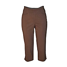 Brown Womens Capri