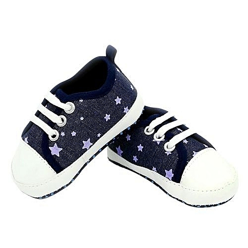 17c284711 Generic bluerdream-Toddler Baby Shoes Infants Sneaker Anti-slip Soft Sole  Toddler Canvas Shoes- Dark Blue
