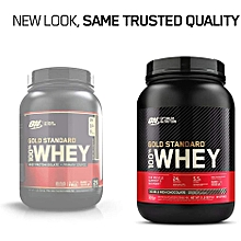 Gold standard Whey protein,strawberry,double  cream - 2LB