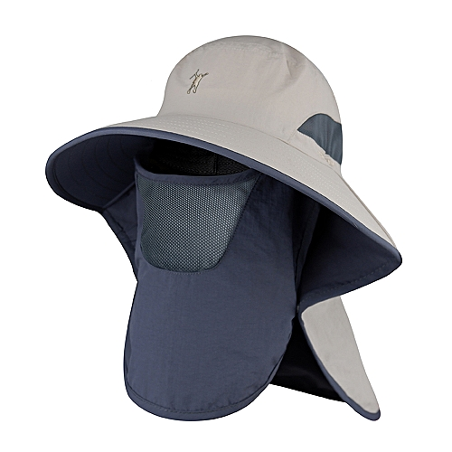 9c5215229 Outdoor Sun Shield Hat UPF 50+ Sun Cap with Neck Face Flap for Camping  Gardening Cycling Hiking