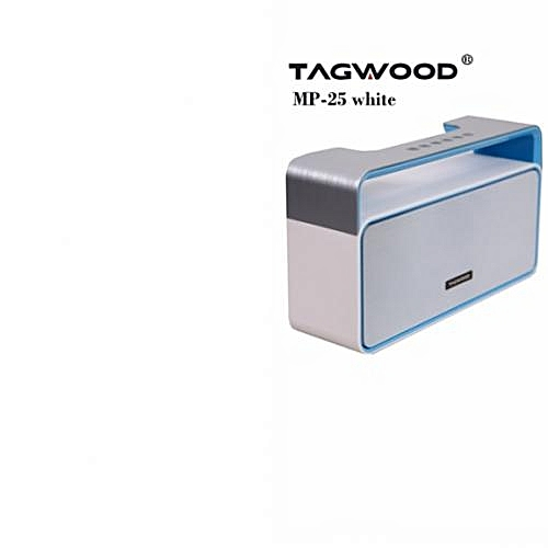 MP-25 Mini Wireless Portable Bluetooth Speaker With FM Radio WHITE  500W