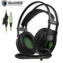 Sades SA801 Over-Ear Stereo Gaming Headset PS4 Headphone with Microphone Noise Isolation for New Xbox One PC Tablet Laptop