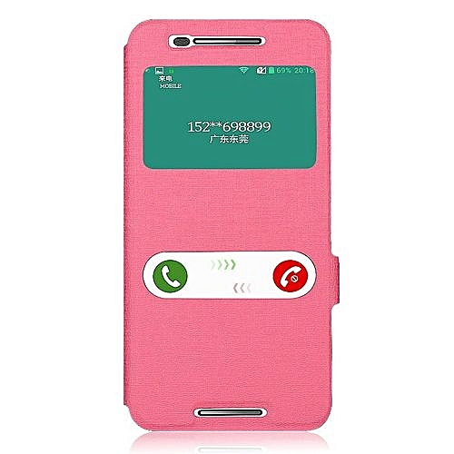 timeless design abab5 aee70 For Nexus 6P Case Cover Paint Flip PU Leather + TPU Stand Cases With View  Window(Pink)