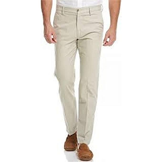 f2778503b13c24 Generic Cream khaki pants for men @ Best Price Online   Jumia Kenya