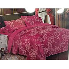 Silk Duvet Cover - 5x6 Pink Flowered