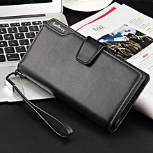 Baellerry Women's Pure Leather Phone Wallet, 21 Cards Holder Purse Black