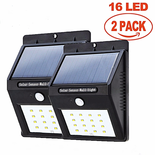 Generic J Hex Solar 2pcs Lights Outdoor Motion Sensor Light 16led Security For Wall Patio Deck Shed Fence Pathway And