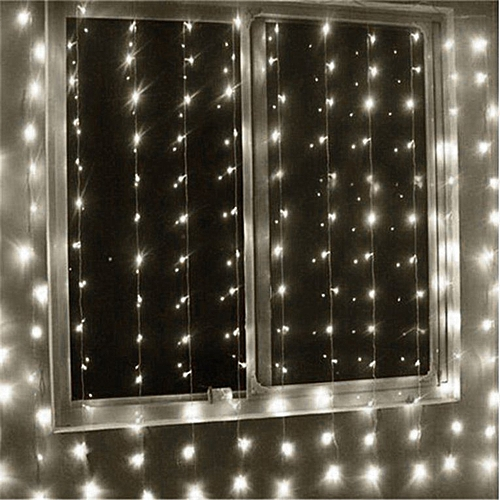the best attitude 8f4ba a5890 Fairy Curtain Lamp Super Bright Icicle String Lights Decorative String Lamp  White 3*2m UK