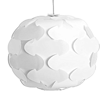 YK2238 12PCS IQ Lampshade with Puzzle Creative Decor Design for Room Bar - White