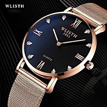 WLISTH Mens Watches Top Brand Luxury Gold Quartz Men Watch Drop Shipping Mesh Strap Casual Sport Male Relogio Masculino 910