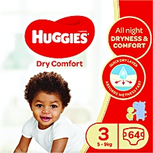 Dry Comfort Diapers, Size 3 (5-9kgs), (Count 64)