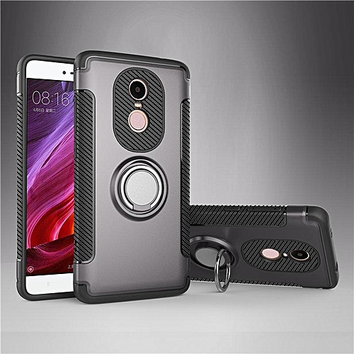 KZ Slim Fit Hybrid Dual Layer Armor Shock Absorption Rugged Defender with Ring Holder Kickstand Drop Protection Soft Rubber Bumper Case Cover for Xiaomi Redmi Note 4X   XXZ-Z