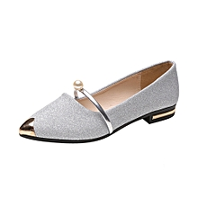 Women Pointed Toe Ladise Shoes Casual Low Heel Flat Shoes SL/35
