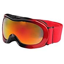 Sg-118 Double Anti-uv Anti-fog Anti-scratched Lens Skate Ski Snowboard Goggles With Adjustable Jacquard Strap For Kids(red)