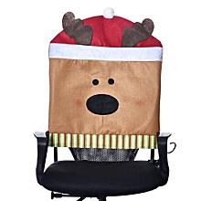 1PC Hat Chair Covers Christmas Decor Dinner Chair Xmas Cap