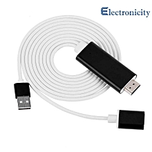 HDMI for Wecast for Android iOS Wire Video Mirroring Device ( White ) HT