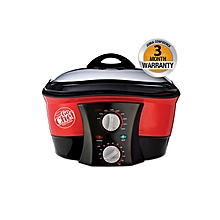 Pro Digital 8-in-1 Non-Stick Multi Functional Cooker - Red & Black