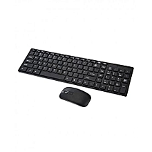 Wireless Keyboard Mouse Combo Full - Black