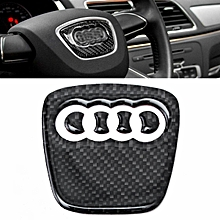 Carbon Fibre Steering Wheel Badge Emblem Sticker Decal For Audi A4 S4 RS A5 Q5