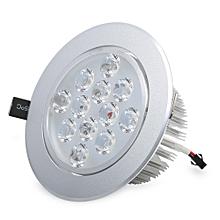 1100LM 12W 6000K Recessed LED Ceiling Spotlight - White Light