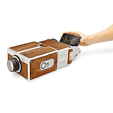 Smartphone Projector DIY Portable Theater Cinema - Coffee