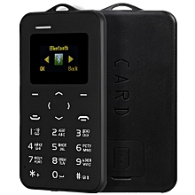 C6 1.0 Inch Pocket Card Phone Russian Keyboard GSM Bluetooth 2.0 Calendar Alarm - Black