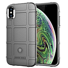 Full Coverage Shockproof TPU Case for iPhone XS Max(Grey)