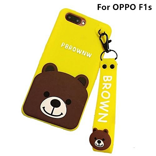 premium selection f9321 fb6ea Phone Case For OPPO F1s ,Lucky Bear Cartoon Bear With Wrist Strap Silicone  Rubber Phone Case Cover For OPPO F1s