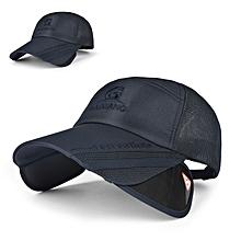 Unisex Men Women Polyester Mesh Wide Brim Baseball Cap Adjustable Breathable Outdoor Hat