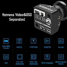 Predator V3 Mini FPV Camera HS1217 1000TVL Super WDR with OSD All Weather Racing Camera 2.5mm Lens PAL/NTSC 4:3/16:9 Switchable Screen Remote Control 4ms Latency for FPV Racing Drone