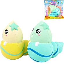 Sanqi Elan Conch Squishy 14.5*13.5*8CM licensed Slow Rising With Packaging Toy-Green