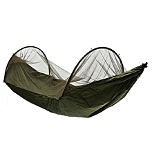 Double Person Travel Outdoor Camping Tent Hanging Hammock Bed & Mosquito Net Army Green