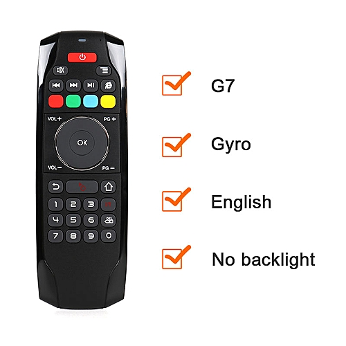 G7 2 4G Backlit Air Mouse with Keyboard 6-Axis Gyro Smart Remote Control  For X96 mini T9 T95Q and Mi box Android TV Box QLANA