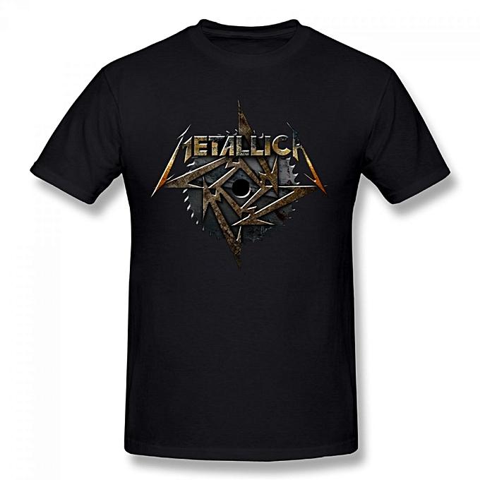 ebdee1b9 Generic MEALLICA Metallica Men's Cotton Short Sleeve Print T-shirt ...