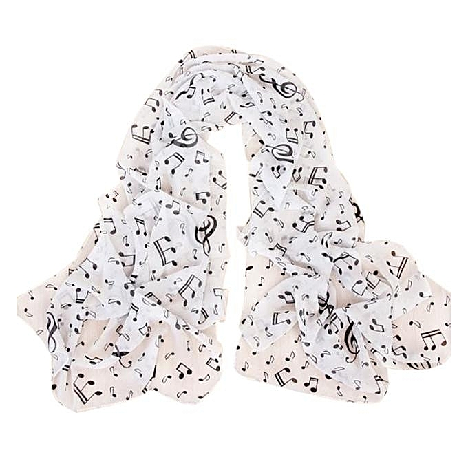 8c90a07f341 Fashion Women Musical Note Long Scarf Wrap Ladies Shawl Girls Large Scarves  WH