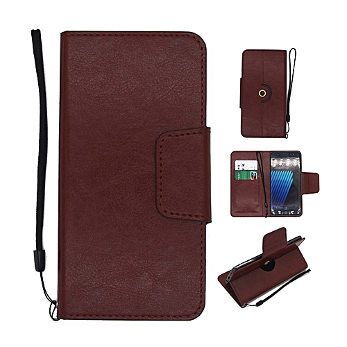 best service 15f96 b5566 Fashion Case Universal Rotating Ultra Slim Durable PU Leather Wallet Case  Cover for Gionee P5 Mini 4.5 inch (DarkBrown)