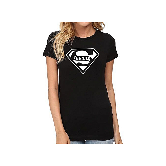 e0cdc997 5 Colors Super Teacher Ladies Graphic T-Shirts Women Tee Teacher Gift For  Birthdays
