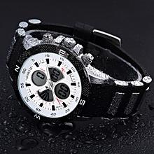 NORTH Africashop Watch  North Calendar Quartz Wrist Watch Silicone strap Bracelet Men Watch-White