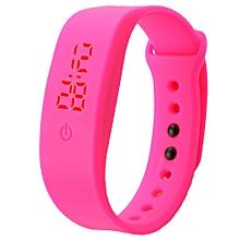 Womens Mens Rubber LED Watch Date Sports Bracelet Digital Wrist Watch HP