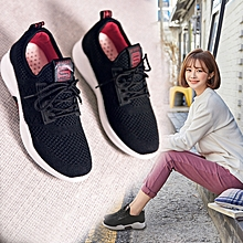 Spring And Summer Women's Sport Shoes Woven Shoes-Black&Red