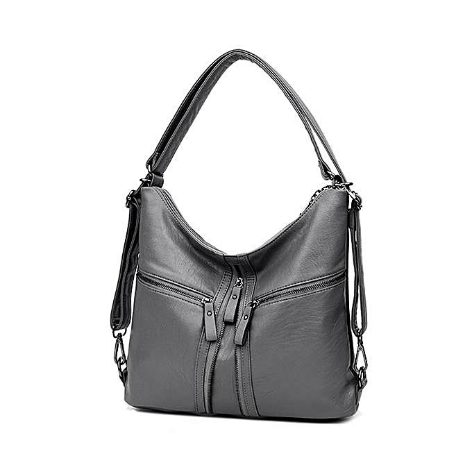 Three way women s bag 2017 winter new fashion shoulder diagonal shoulder  bag ladies soft leather large 279cc9ff7d
