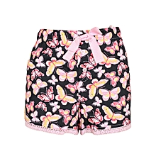 Pink Butterfly Print Boxer Shorts – Sleep Wear