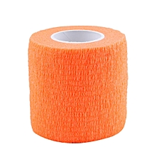 5 Rolls Waterproof Self Adhesive Bandage Tape Finger Joints Wrap Sports Care(Orange)