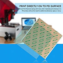 PEI Sheet with Adhesive Tape 220 x 220 x 0.5mm PEI Sheet ABS PLA Build Surface for 3D Printer with Adhesive Tape