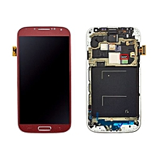 Lcd Screen With Frame Touch Screen Lcd Display Complete Screen Assembly Replacement Parts Red For Samsung Galaxy I337