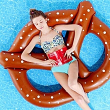 Inflatable Bretzel Shaped Floating Mat Swimming Ring, Inflated Size: 140 X 120cm